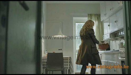 Fog & Mørup Semi pendant lamp used as a prop in the 2011-2018 TV series The Bridge S2E2 (2013)
