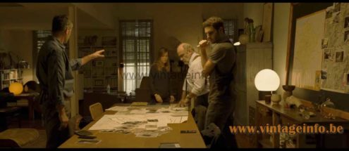 Gae Aulenti Mezzoracolo table or floor lamp used as a prop in the 2020 film Ofrenda A La Tormenta (2020)