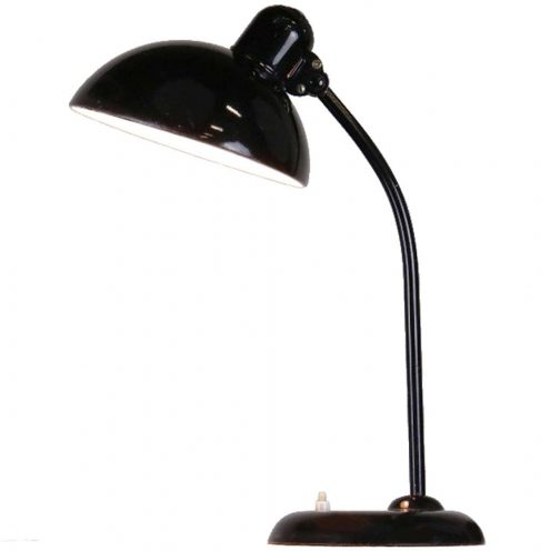 Kaiser Idell Desk Lamp 6556 design: Christian Dell black metal work light 1930s Bauhaus Germany