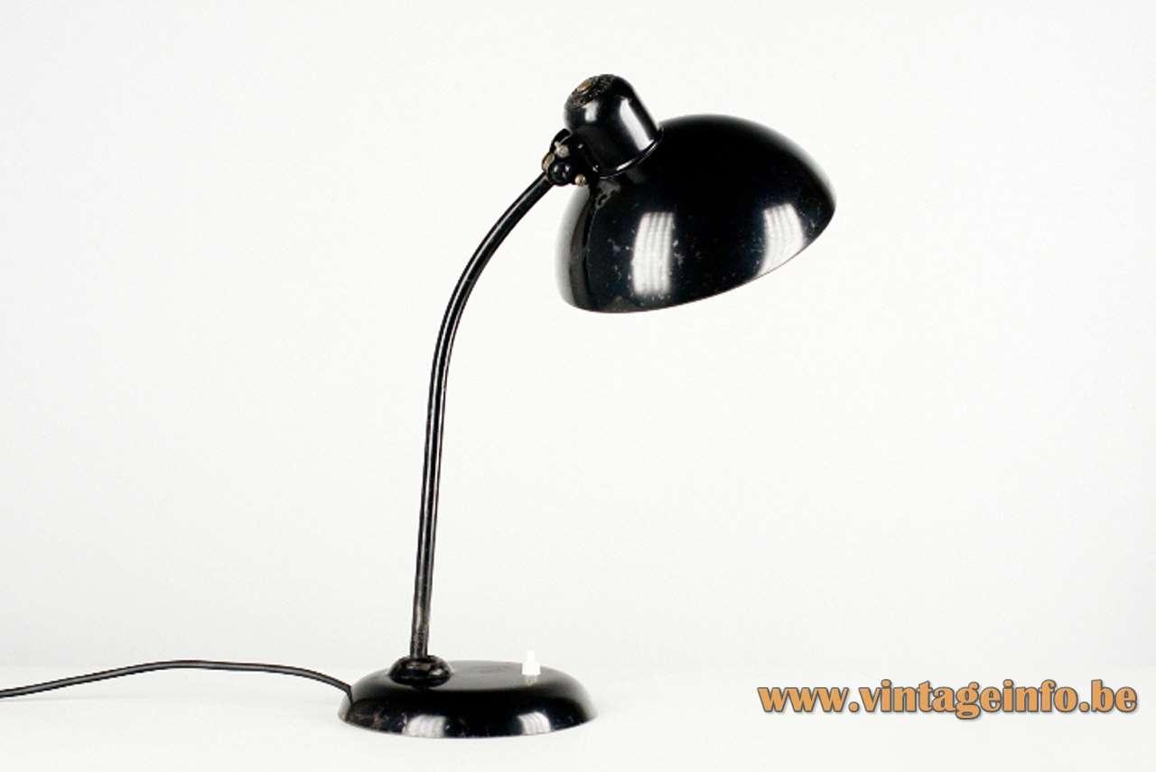 Kaiser Idell Desk Lamp 6556 design: Christian Dell black metal work light 1930s Bauhaus Germany
