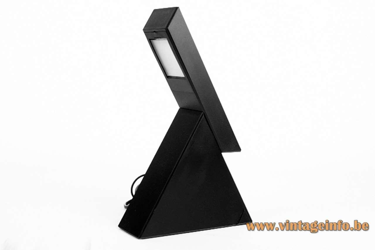 Mario Bertorelle table lamp Delta black plastic extendable JM RDM Massanzago Italy 1980s 1990s