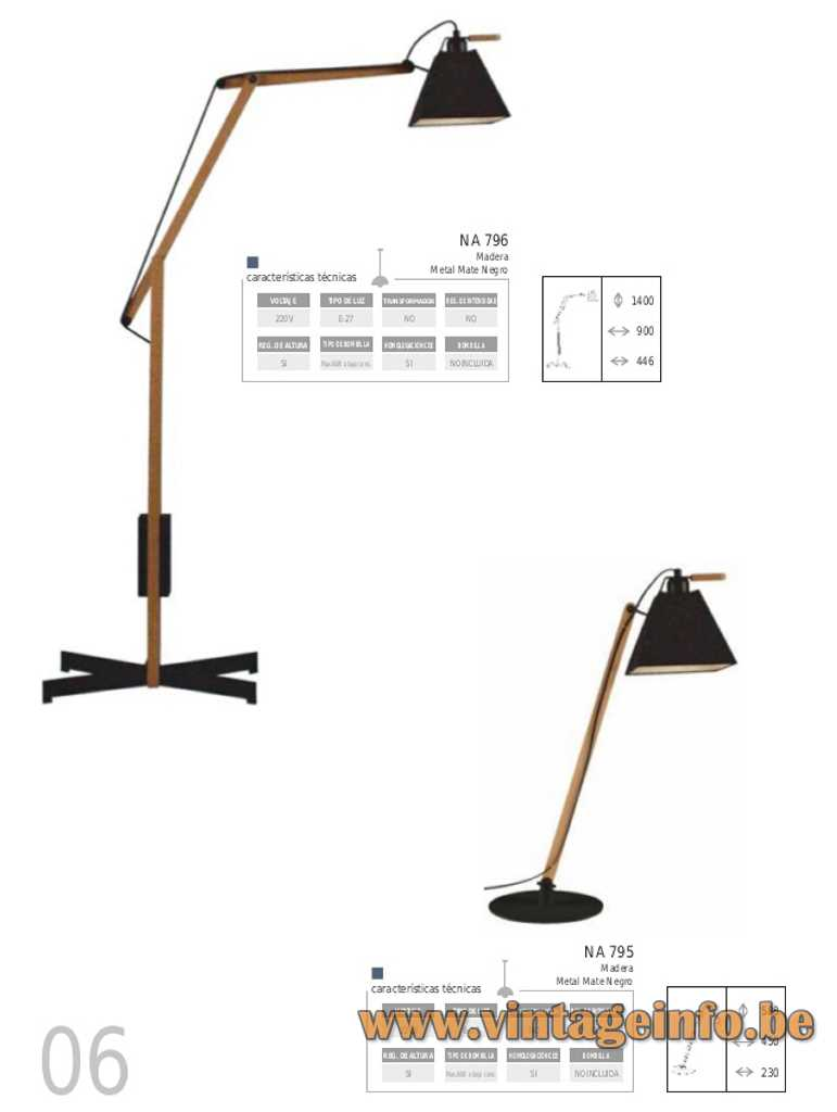 Arquimedes Floor lamp Archimedes Spain square conical lampshade design: Gemma Bernal Ramón Isern