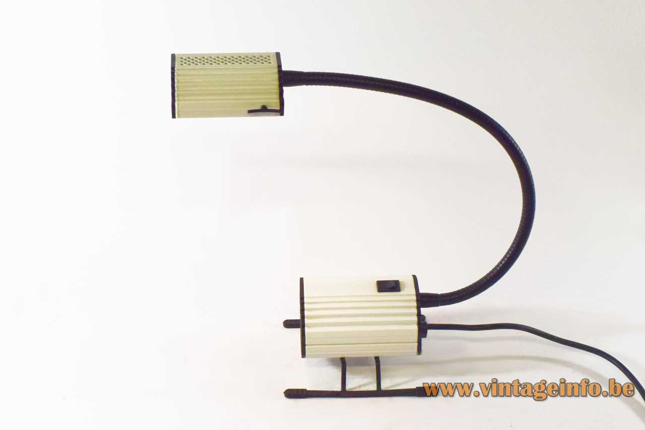 Arteluce table lamp Ciao Ezio Didone design 1170 gooseneck 2 sliders white vacuum cleaner sled