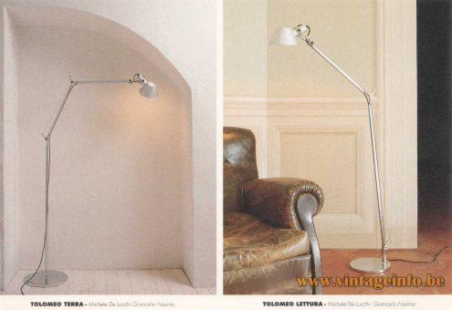 rtemide Tolomeo Floor Lamp - 1987 Design: Giancarlo Fassina & Michele de Lucchi - 1992 Artemide Catalogue