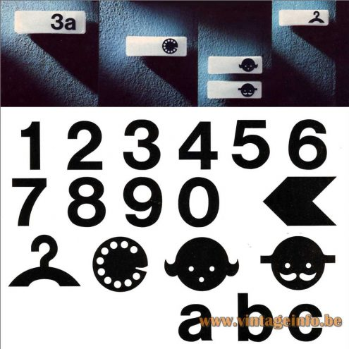 Character, Numbers And Signs Wall Lamp - Designer: Rolf Krüger