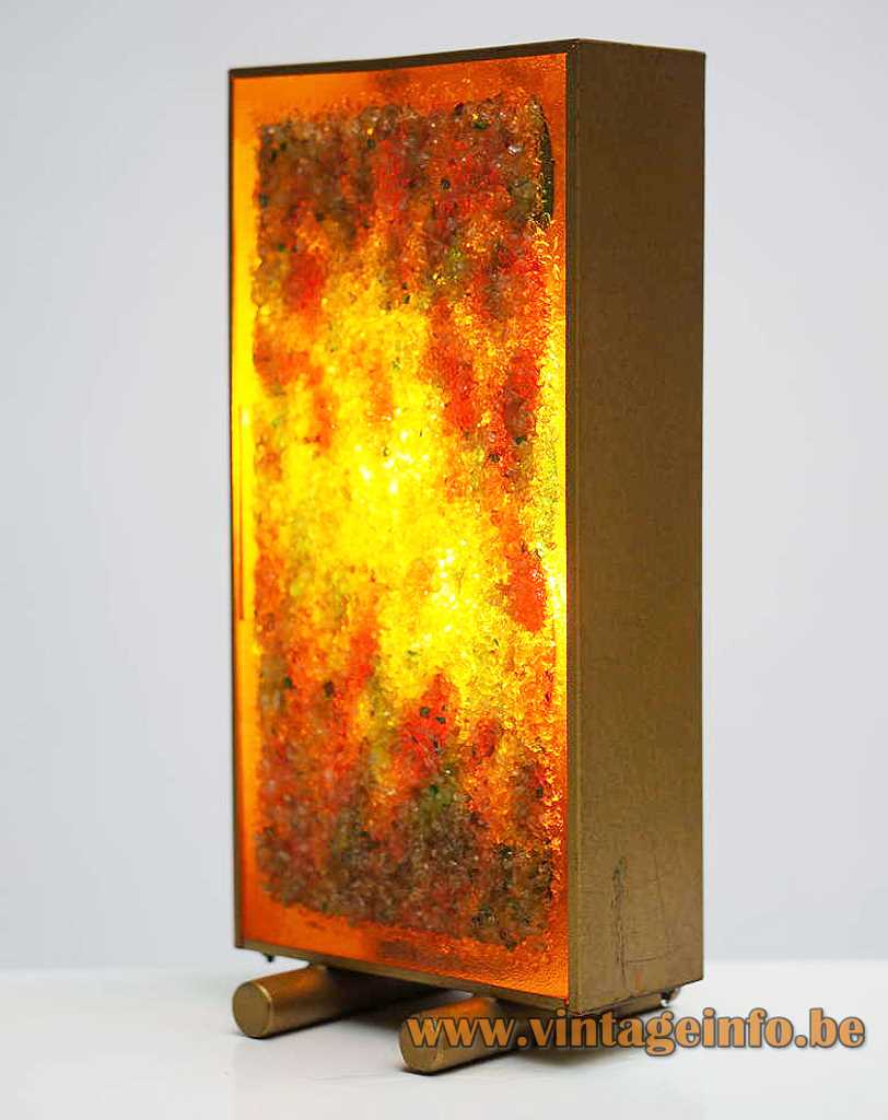 Cosack glass grains floor lamp Brutalist rectangular light broken glass 1960s 1970s Cosack Leuchten Germany