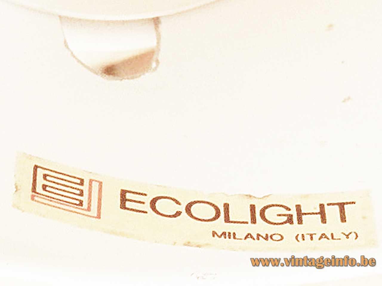 Globe wall lamp Toy Ecolight Label Design: Gaetano Sciolari E14 socket 1960s 1970s MCM Mid-Century Modern