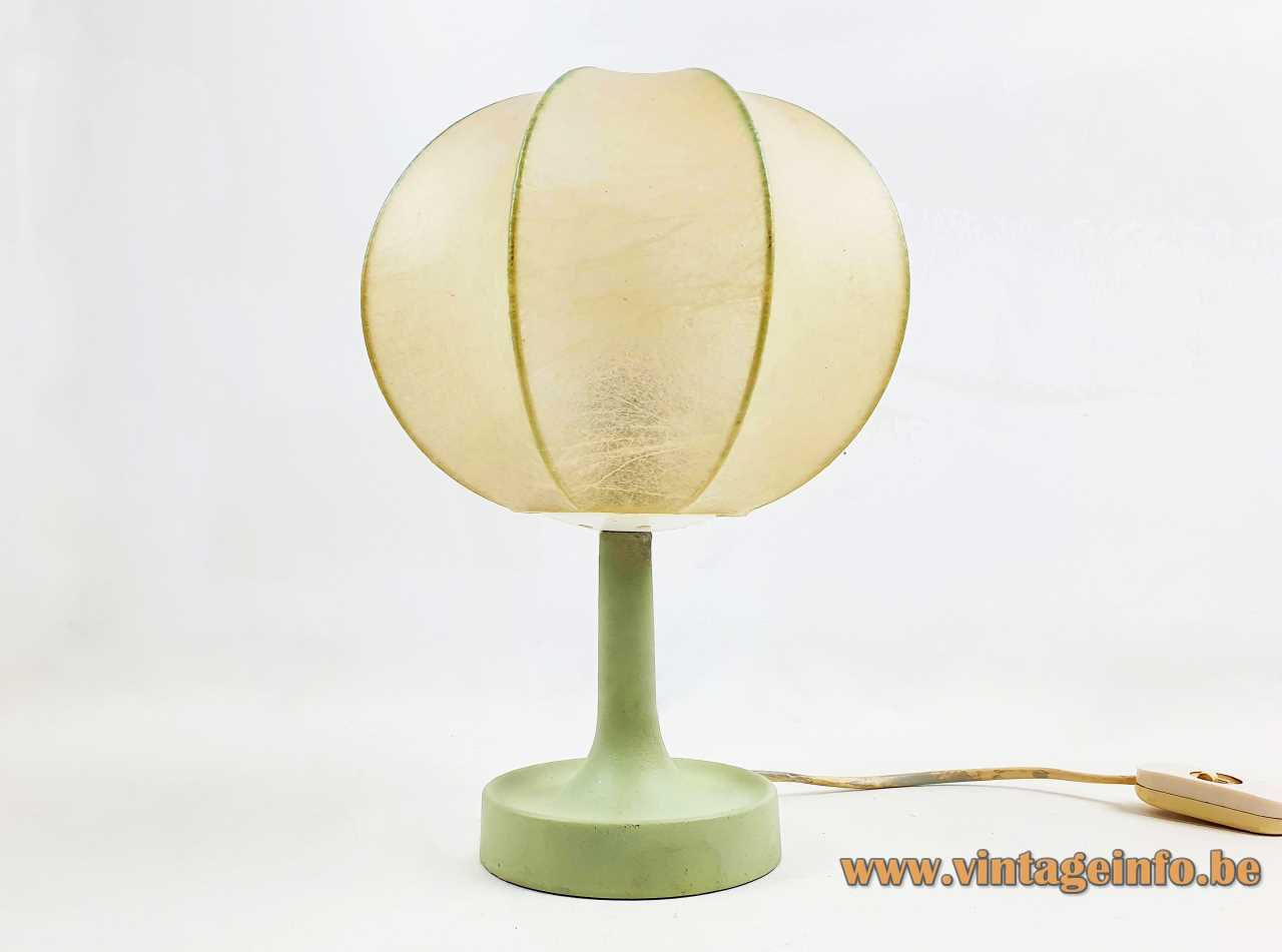 Goldkant Leuchten Garbo table lamp Cocoon plastic globe lampshade FLOS Achille Castiglioni 1960s 1970s Germany