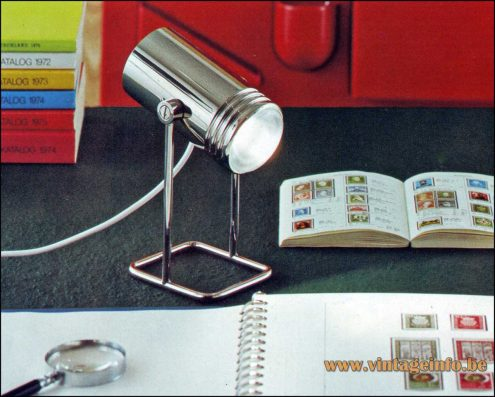 Heinz Neuhaus Chrome Desk Lamp - Design Rolf Krüger