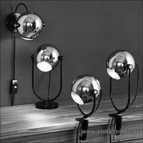 Heinz Neuhaus Eyeball Lamps - Design Rolf Krüger