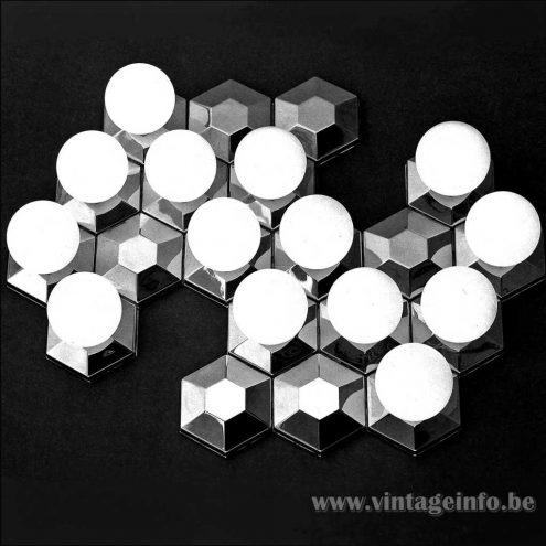 Heinz Neuhaus Geometric Globe Wall Lamps - Design Rolf Krüger