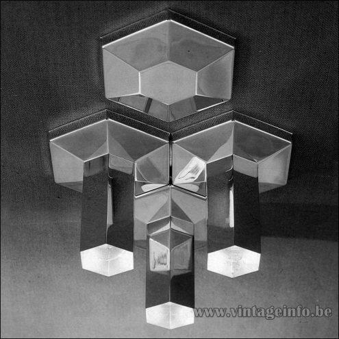 Heinz Neuhaus Hexagon Wall Lamps Or Flush Mounts - Design Rolf Krüger