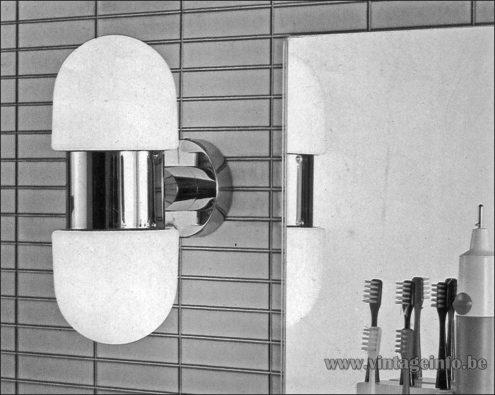 Heinz Neuhaus Oval Wall Lamp - Design Rolf Krüger