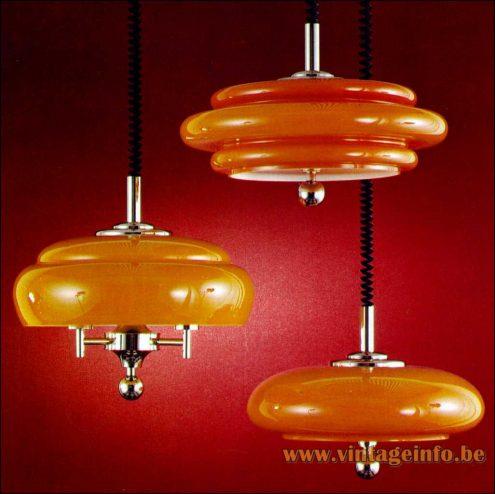 Heinz Neuhaus Rise & Fall Pendant Lamps - Design Rolf Krüger