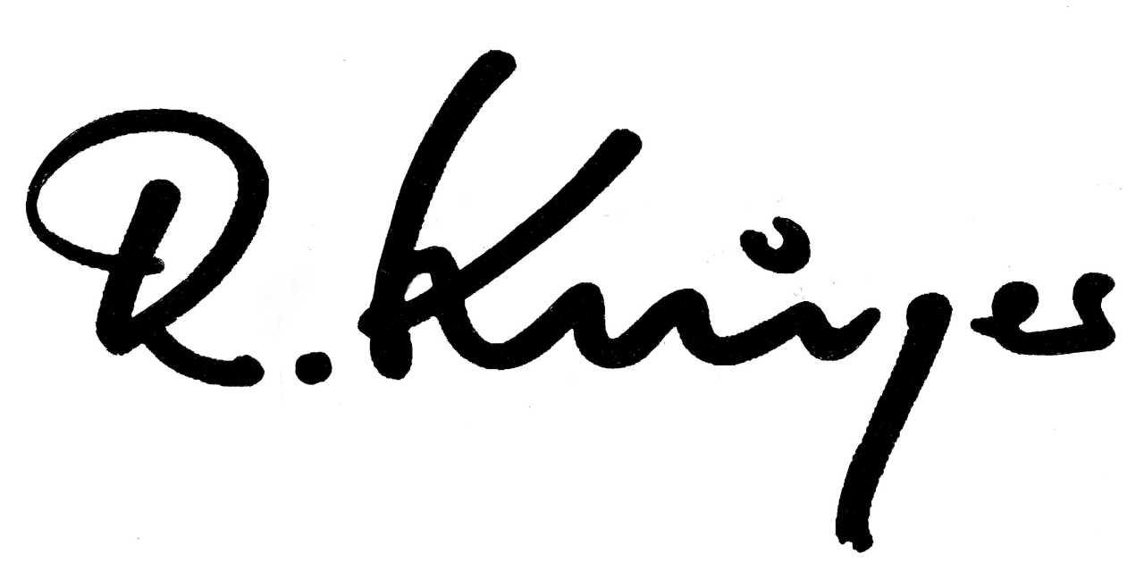 Rolf Krüger Signature