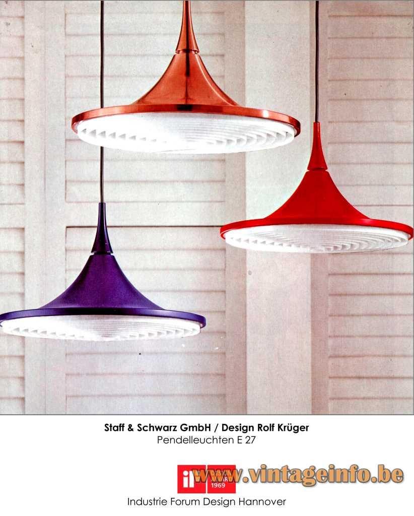 Staff Pendant Lamp - Designer: Rolf Krüger 1969