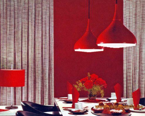Staff Pendant Lamp - Designer: Rolf Krüger - 1969