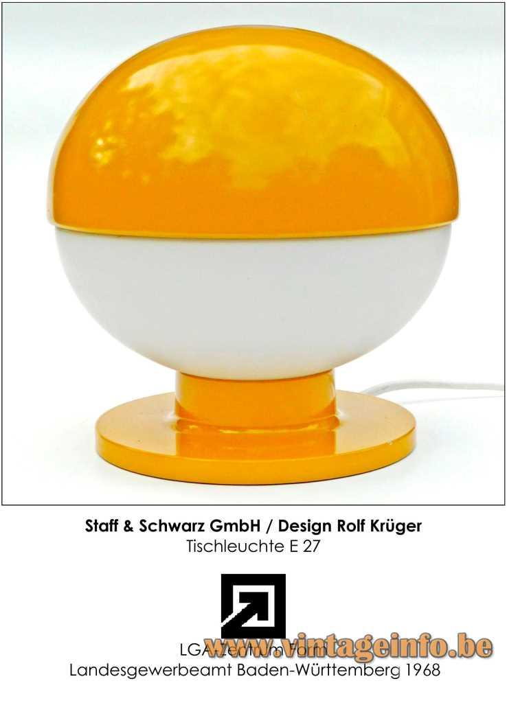 Staff Table Lamp - Design Rolf Krüger