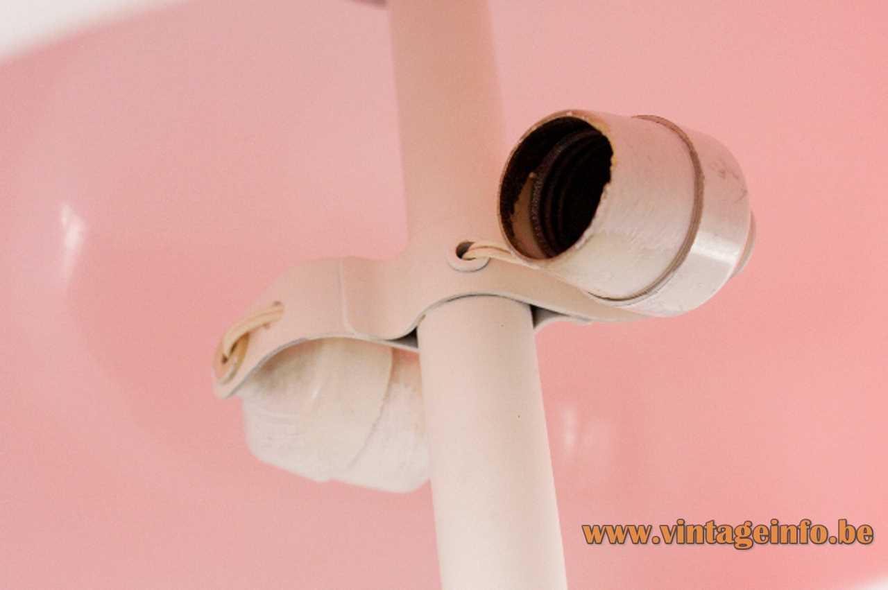 Tramo mushroom table lamp design: Joan Antoni Blanc 2 white Bakelite E27 sockets 1960s Spain