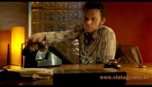 Fibreglass rocket floor lamp used as prop in the 2006, 2007 TV series Life On Mars