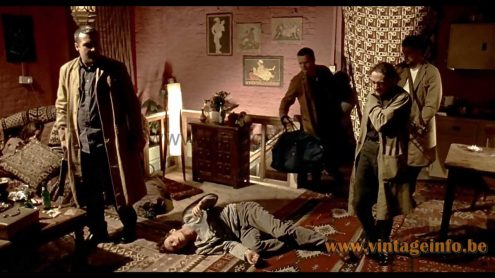 Fibreglass Rocket floor lamp used as a prop in the 1998 film Lock, Stock and Two Smoking Barrels