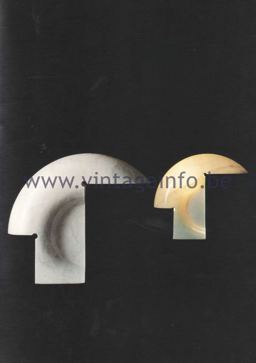 Tobia Scarpa Biagio Table Lamp - 1980 Flos Catalogue Pïcture