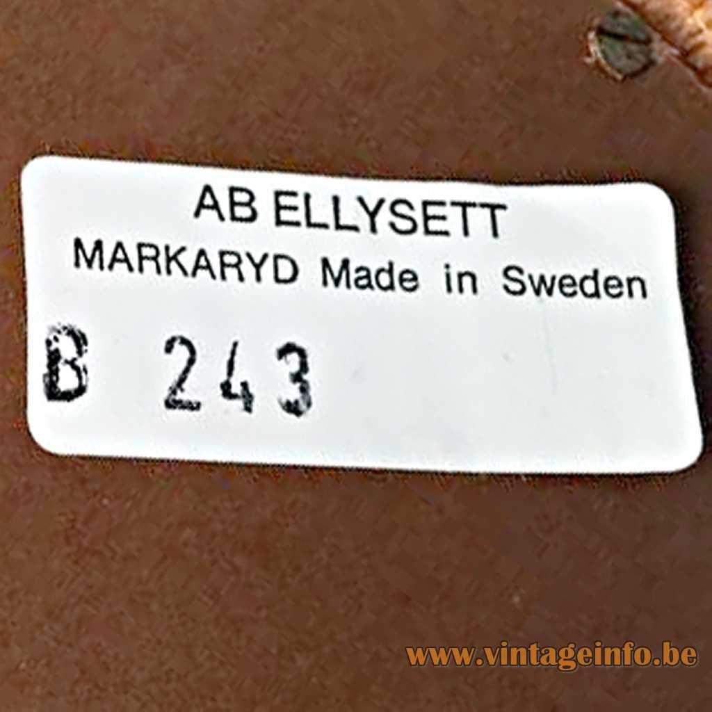 AB Ellysett label - Hans-Agne Jakobsson