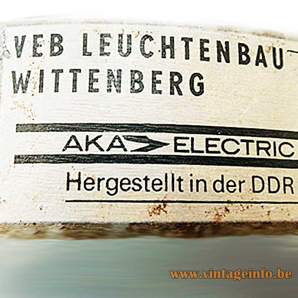 AKA Electric label - VEB Leuchtenbau