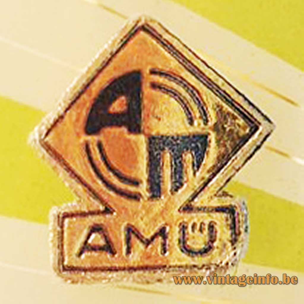 AMÜ label on an ERCO lamp