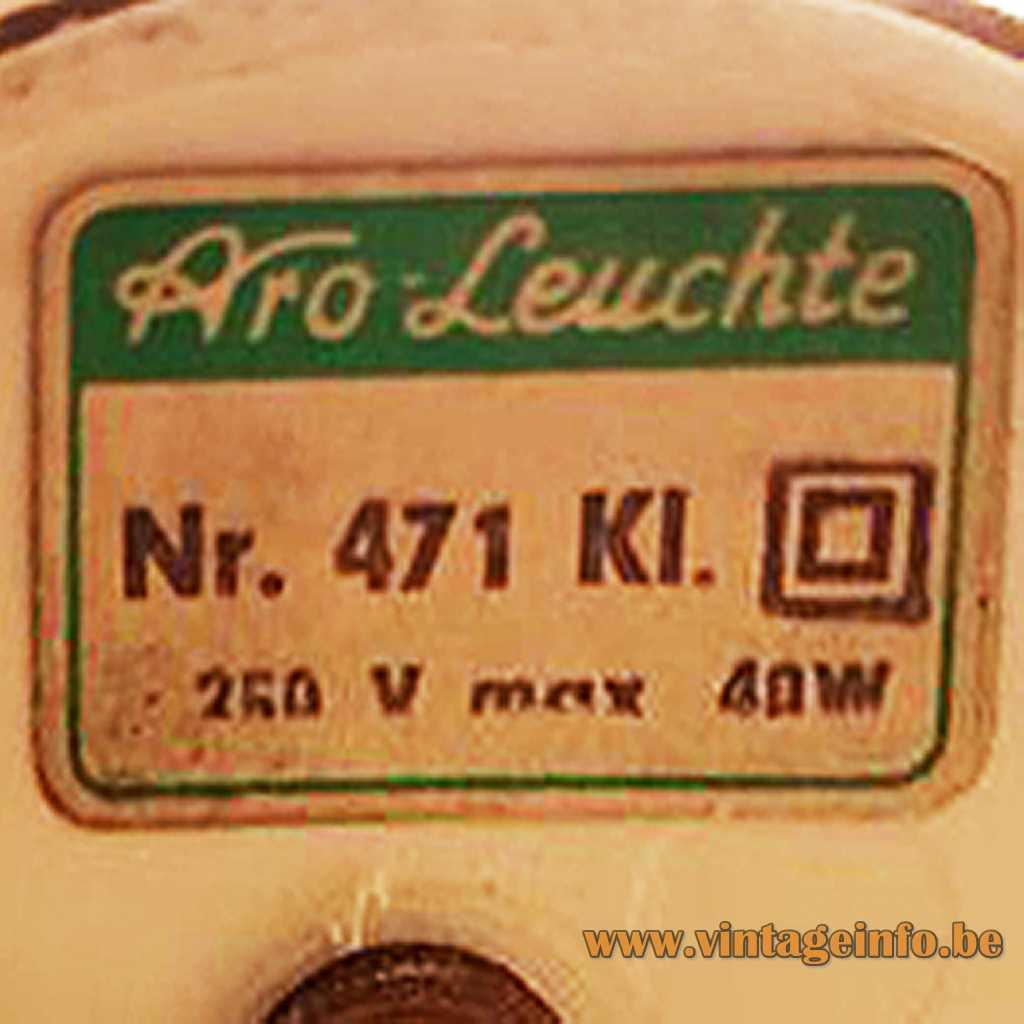Aro Leuchte label