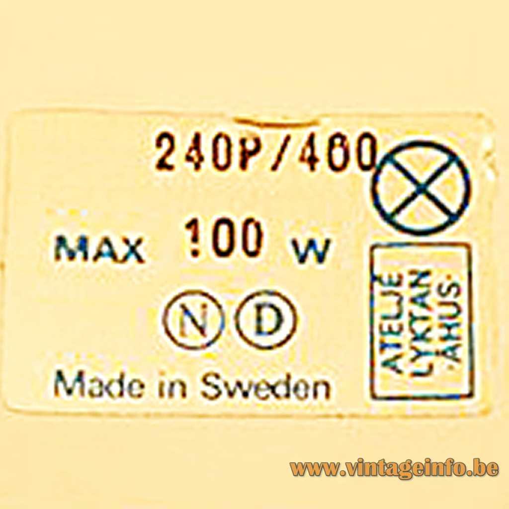 Ateljé Lyktan label