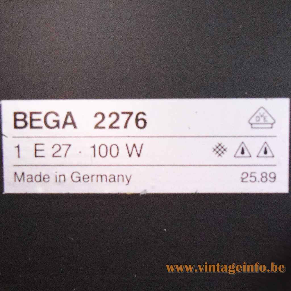 BEGA label