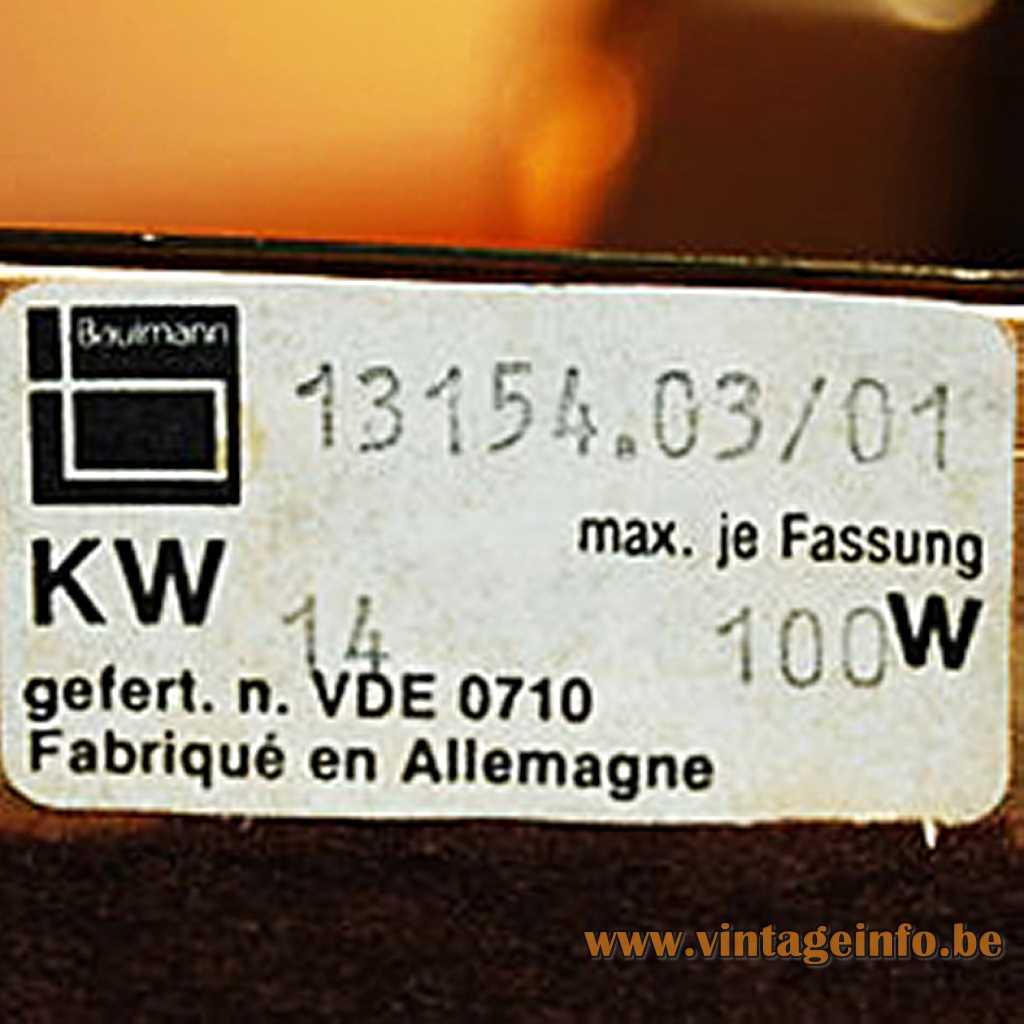 Baulmann Leuchten Germany label