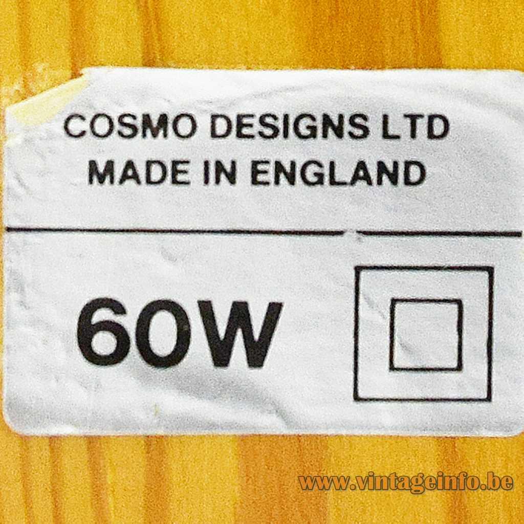 Cosmo Designs LTD UK label