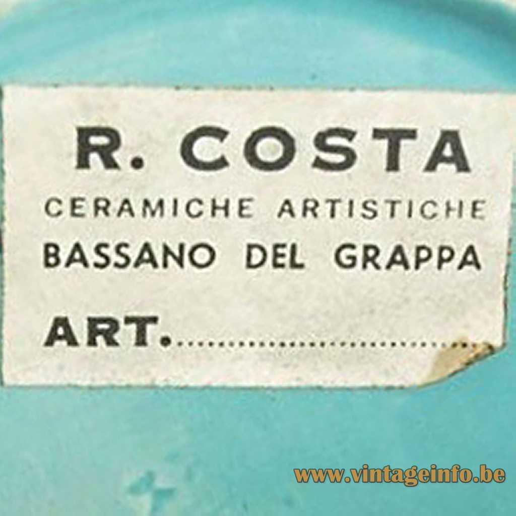 Ceramiche Artistiche R. Costa label