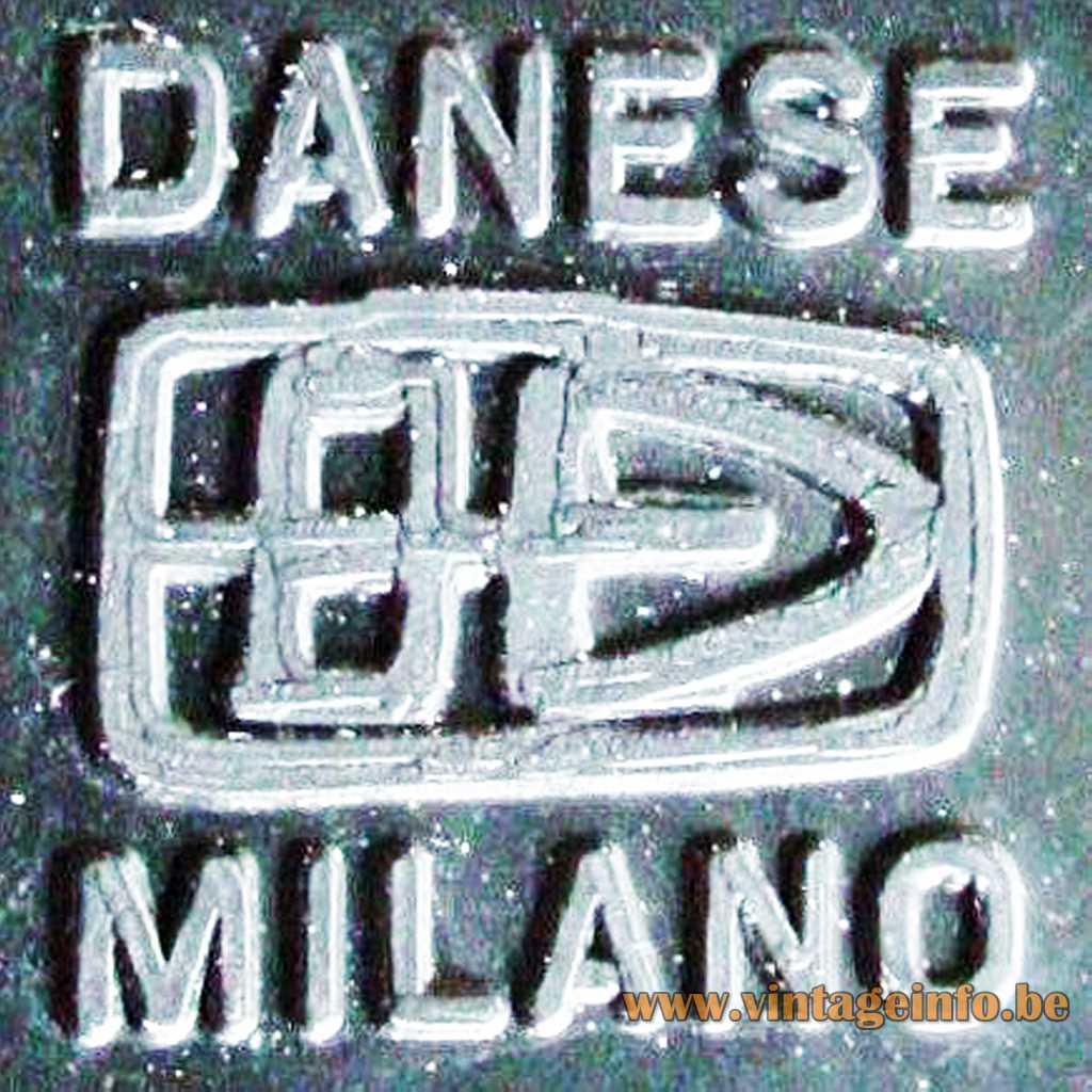 Danese Milano moulded logo label