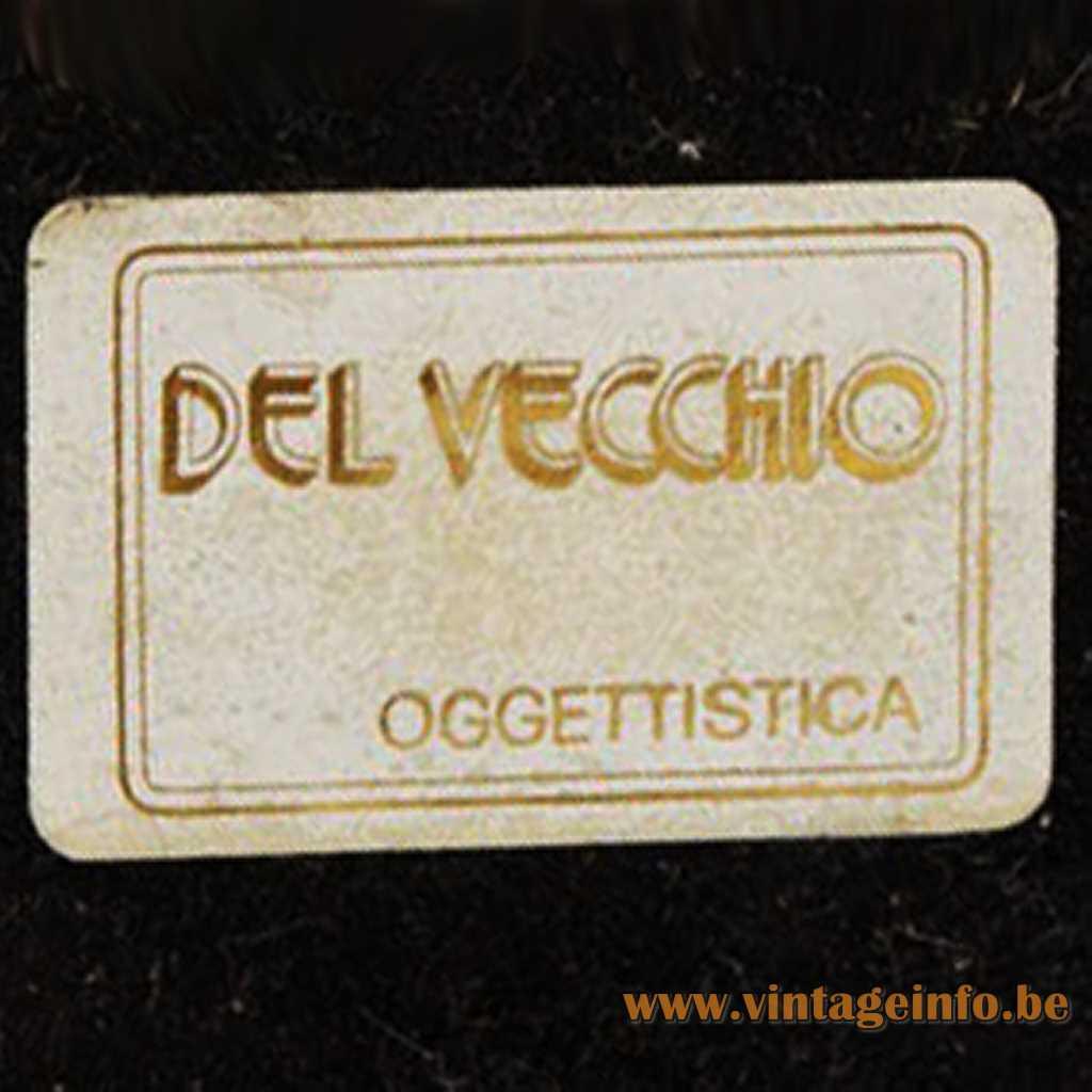 Del Vecchio oggettistica label (oggettistica = objects)