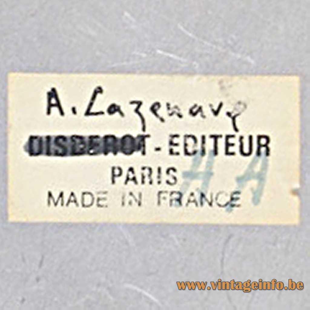 Disderot label - André Cazenave