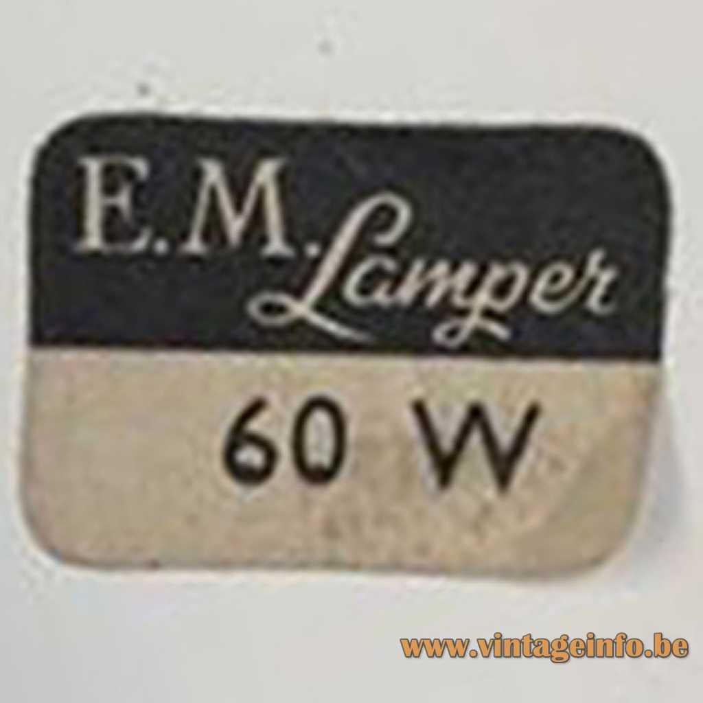 E.M. Lamper Denmark label