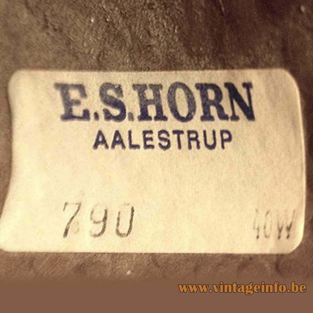 E.S. Horn label