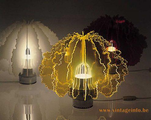 1970 catalogue picture of the Cespuglio Di Gino table lamp