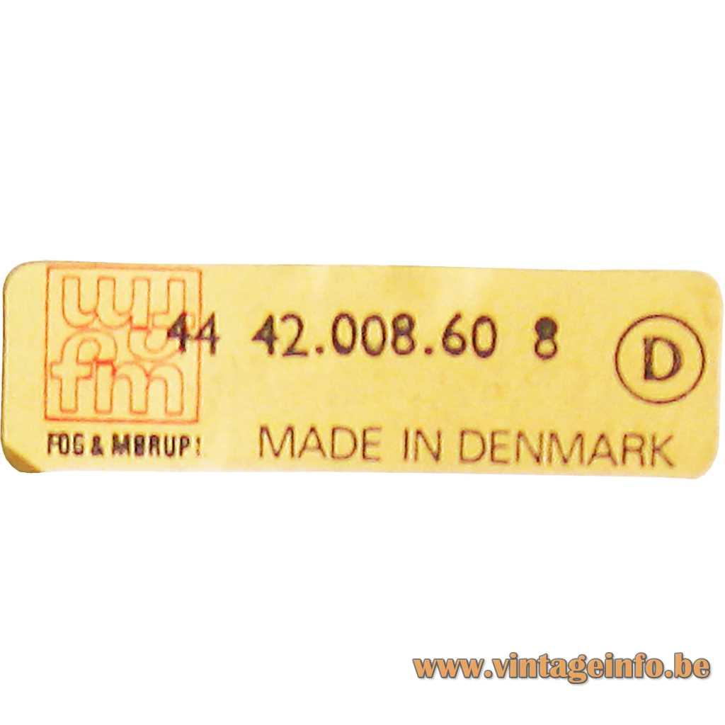 Fog & Morup label