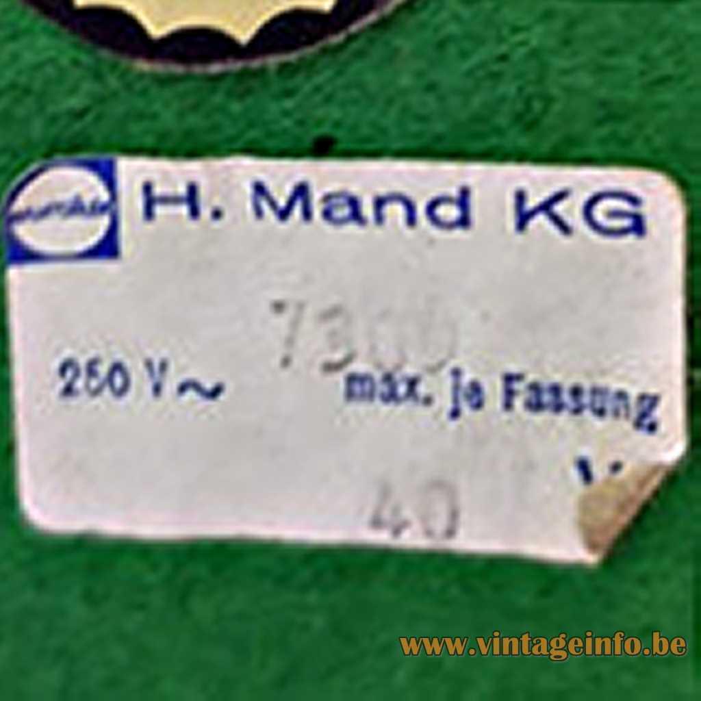 H. Mand KG Label
