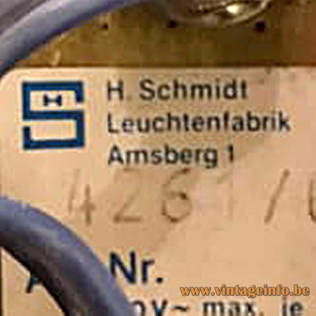 H. Schmidt Leuchtenfabrik label