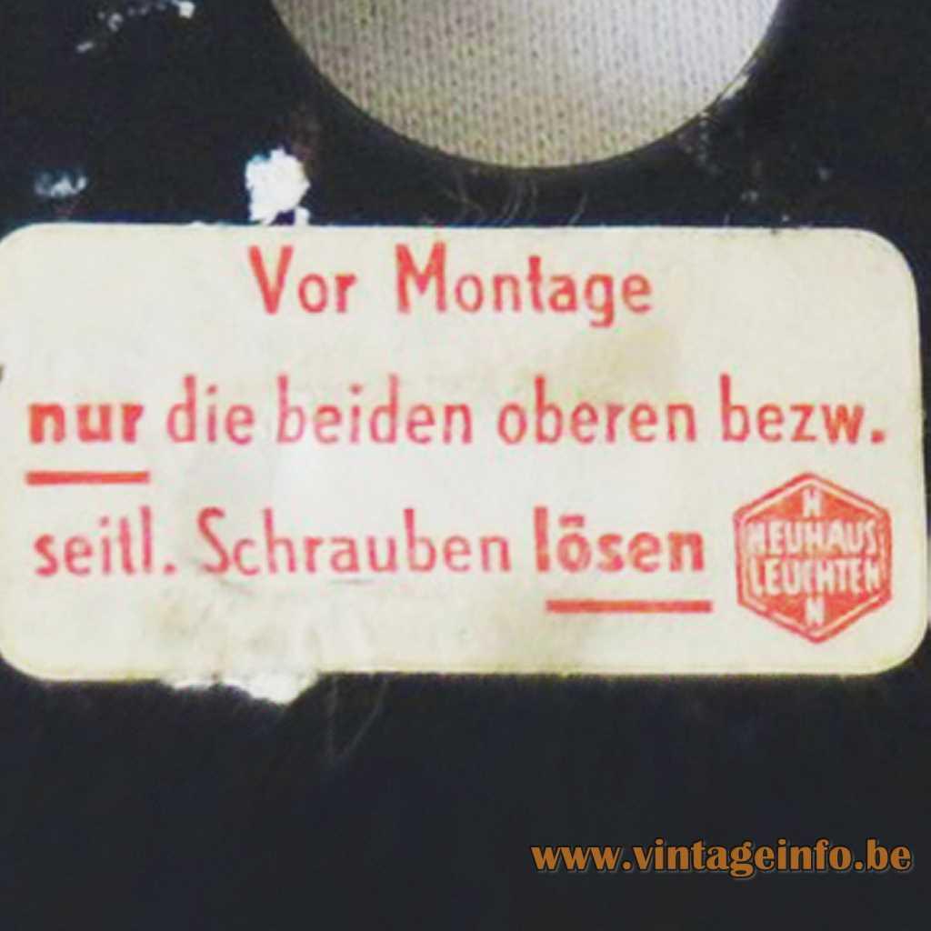 Heinz Neuhaus Leuchten Label