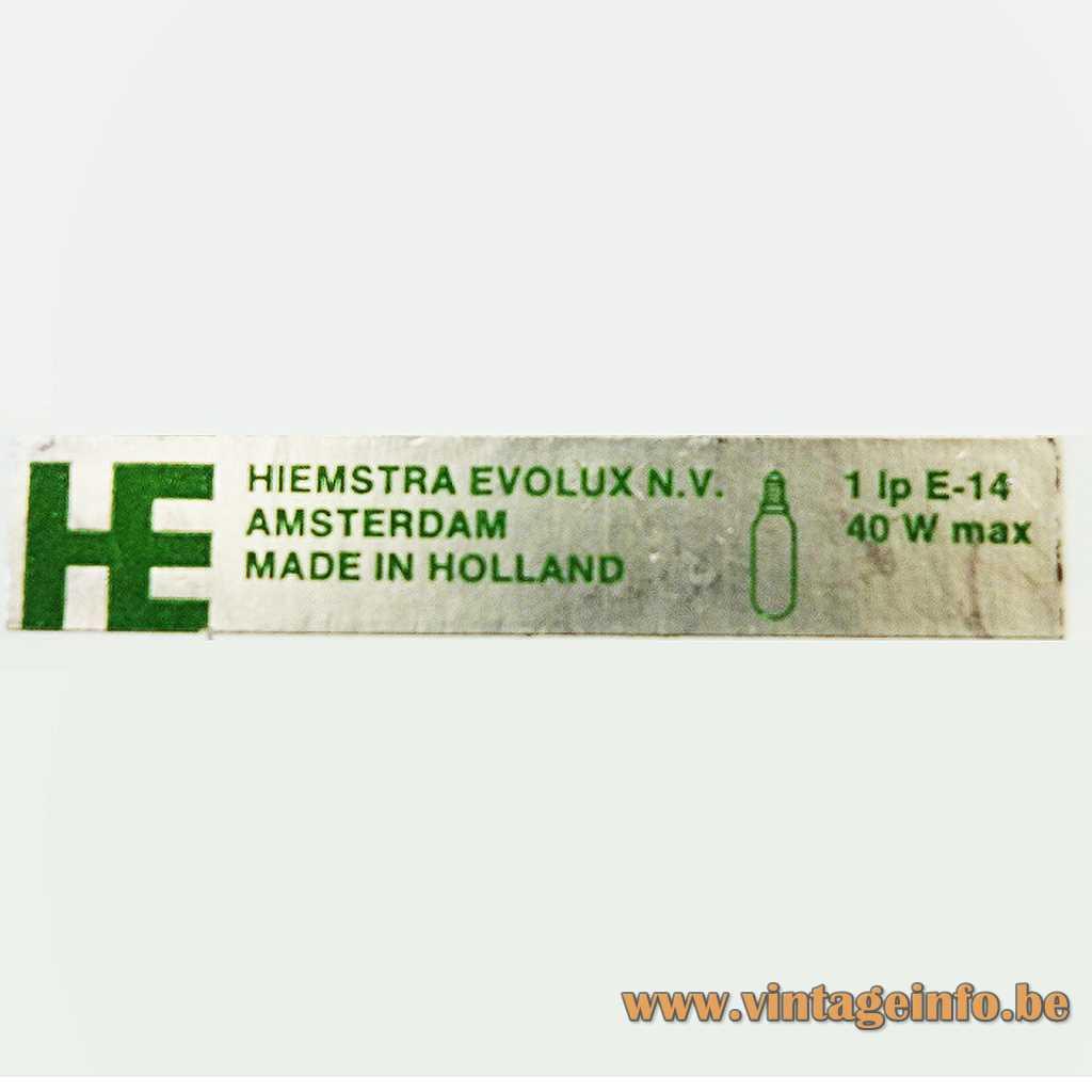 Hiemstra Evolux N.V. label