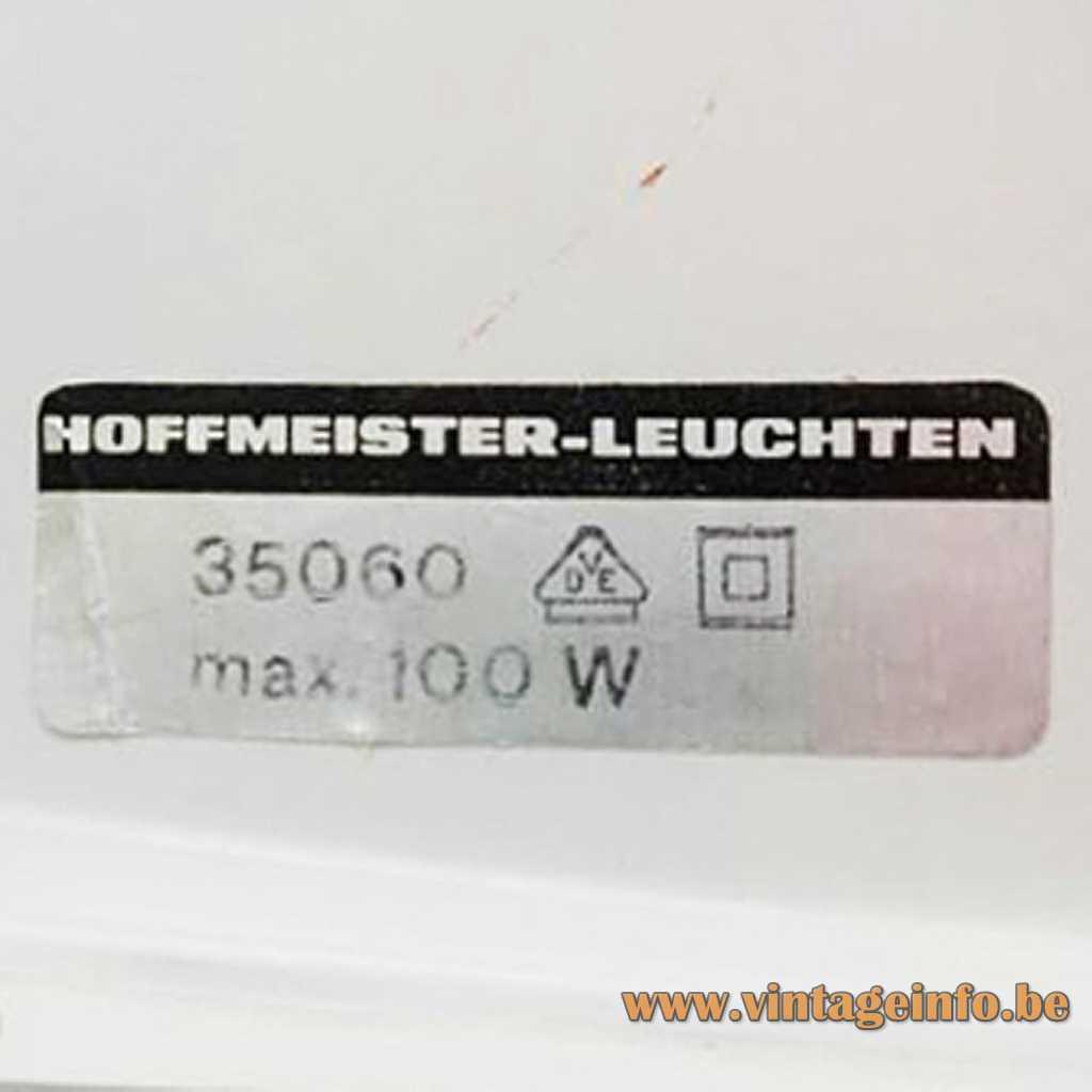 Hoffmeister Leuchten label