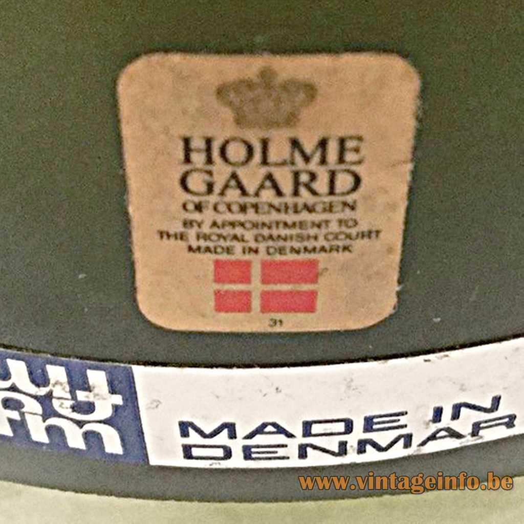 Holmegaard - Fog & Morup label