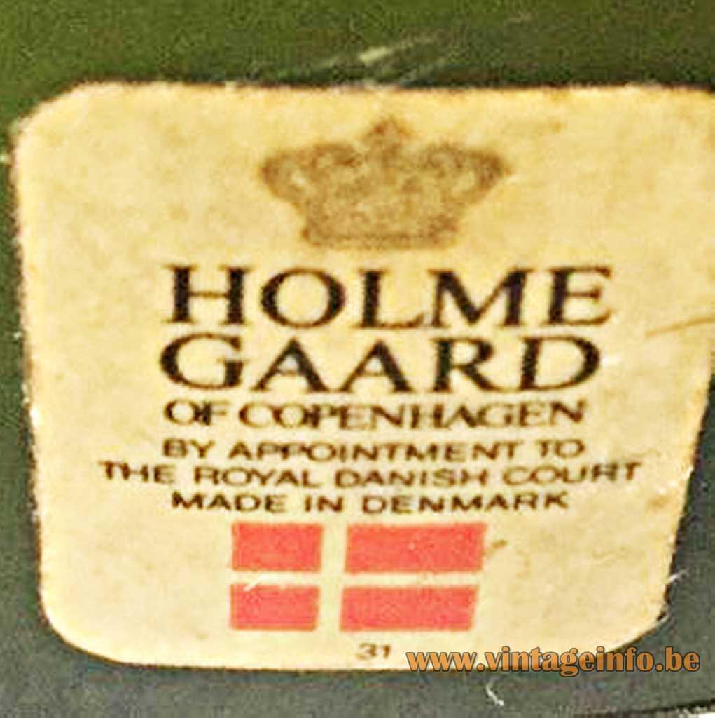 Holmegaard label