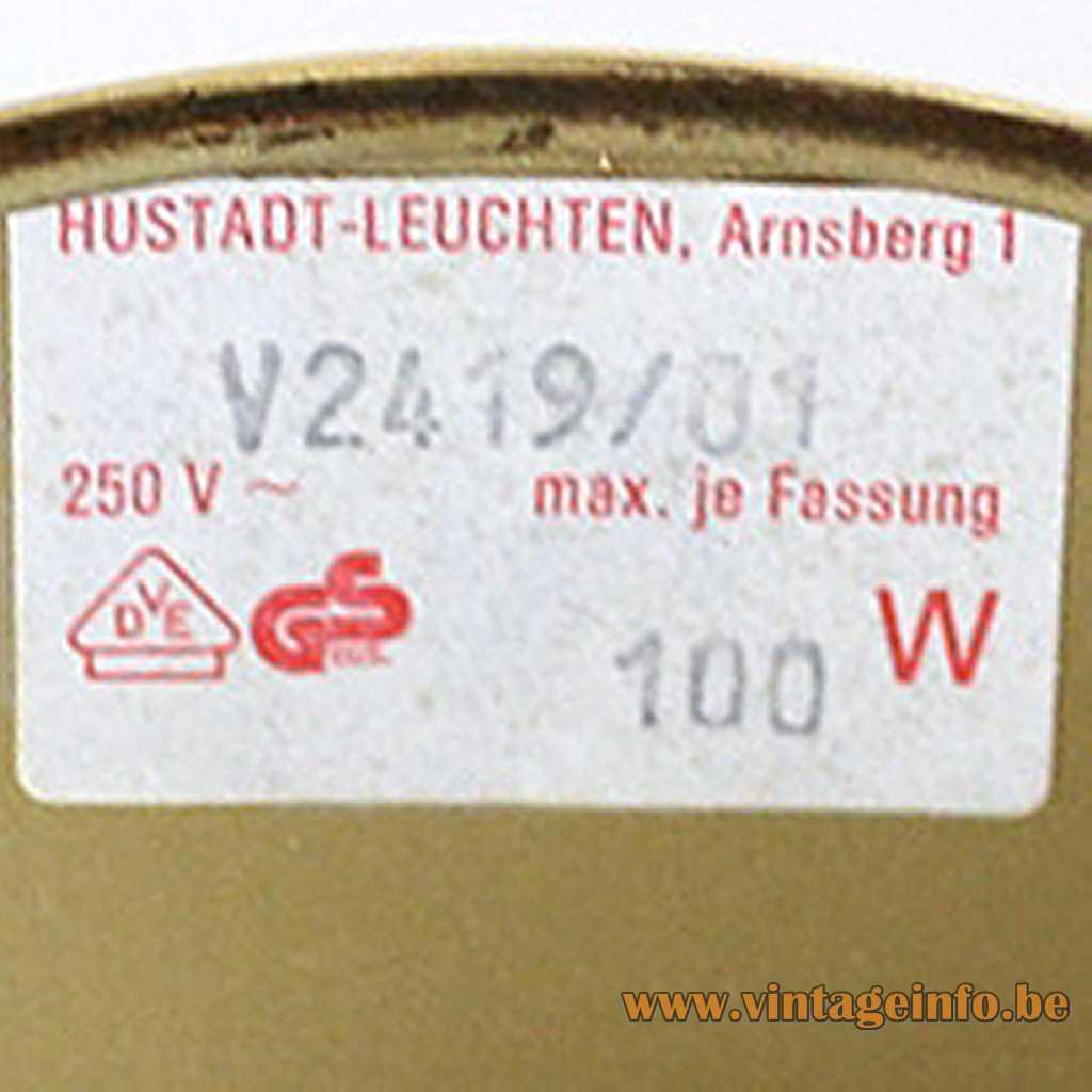 Hustadt-Leuchten label